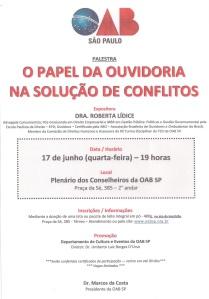 Palestra_II_O Papel da Ouvidoria na Solução de Conflitos_Roberta Lídice
