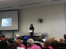 """Em 04.09.2015 - Fórum do Cidadão Idoso - Palestras: """"ESTATUTO DO IDOSO: FAÇA VALER OS SEUS DIREITOS"""", por Roberta Lídice."""