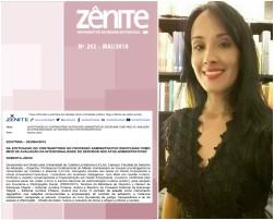 """Revista Jurídica Zênite – Informativo de Regime de Pessoal (IRP). ISSN nº 2318-1435. Caros Leitores, A Revista Zênite - Informativo de Regime de Pessoal - IRP Digital, Edição 202-Maio/2018, já está disponível aos seus assinantes. Nesta edição, para compor a Seção """"Doutrina"""", foi publicado texto de minha autoria, intitulado: DA EFETIVAÇÃO DO CONTRADITÓRIO NO PROCESSO ADMINISTRATIVO DISCIPLINAR COMO MEIO DE AVALIAÇÃO DA INTENCIONALIDADE DO SERVIDOR NOS ATOS ADMINISTRATIVOS¹ Revista Zênite: A mais completa publicação sobre licitações e contratos da Administração Pública, com enfoques prático e aplicado em sua linha editorial. Para mais informações, acesse: https://www.zenite.com.br/ Bons Estudos!! Roberta Lídice. [1] Texto veiculado com a autorização da autora e publicado originalmente na Revista Síntese: Direito Administrativo, São Paulo, v. 12, n. 144, p. 15-25, dez. 2017. *ISSN 2318-1435. LÍDICE, Roberta. Da efetivação do contraditório no processo administrativo disciplinar como meio de avaliação da intencionalidade do servidor nos atos administrativos. Revista Zênite – Informativo de Regime de Pessoal (IRP), Curitiba: Zênite, n. 202, p. 1-7, mai. 2018."""