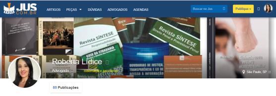 *Revista Jus Navigandi (ISSN 1518-4862): Publicações de Roberta LÍDICE. Disponível em: https://robertalidice.jus.com.br/publicacoes/7