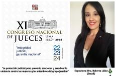 """*Índice de Materiales de Trabajo y Documentos Impresos Incorporados a la Carpeta del XI Congreso de Jueces del Poder Judicial del Perú – Noviembre 2018. *ÍNDICE DE MATERIALES DE TRABAJO Y DOCUMENTOS IMPRESOS INCORPORADOS A LA CARPETA DEL XI CONGRESO DE JUECES DEL PODER JUDICIAL DEL PERÚ – Noviembre2018. B. Protección Judicial para prevenir, sancionar y erradicar la violencia contra las mujeres e integrantes del grupo familiar. SECCIÓN DOCTRINA 5. """"Implementación de Políticas Públicas para el Enfrentamiento de la Violencia Intrafamiliar: Una Visión Latinoamericana"""" ¹ Autora: Roberta Lídice. [1] LÍDICE, Roberta. """"Implementación de políticas públicas para el enfrentamiento de la violencia intrafamiliar. Una visión latinoamericana"""". Disponible en: Índice de Materiales de Trabajo y Documentos Impresos Incorporados a la Carpeta del XI Congreso de Jueces del Poder Judicial del Perú. Sección Doctrina: B-5: Lima, Noviembre, Año 2018. p. 1-26. ROBERTA LÍDICE. EXPOSITORA INTERNACIONAL EN EL """"XI CONGRESO NACIONAL DE JUECES DEL PODER JUDICIAL DEL PERÚ""""."""