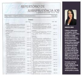 """REPERTÓRIO DE JURISPRUDÊNCIA IOB - ISSN 2175-9987. Nº 14/2019. Caros leitores, O Repertório de Jurisprudência IOB, Edição Nº 14/2019, já está disponível aos assinantes dos produtos IOB SÍNTESE – Editorial SAGE. No volume I desta edição, para compor a Seção """"DOUTRINA"""", foi publicado o texto de minha autoria, intitulado: """"Do Tratamento Isonômico e Respeito às Leis: Um desafio aos Cidadãos Brasileiros em Favor da Ética no Setor Público"""" ¹ Repertório de Jurisprudência IOB: o mais atual em informações jurisprudenciais e doutrinárias. Para mais informações, acesse: http://www.sintese.com/revistas_juridicas.asp Bons estudos! Roberta Lídice. [1] ISSN 2175-9987. LÍDICE, Roberta. """"Do Tratamento Isonômico e Respeito às Leis: Um desafio aos Cidadãos Brasileiros em Favor da Ética no Setor Público"""". Repertório de Jurisprudência IOB: Tributário, Constitucional e Administrativo. São Paulo, nº 14, vol. I – Ementa 1/38031. 2. quinz., pp. 589-588, julho 2019."""