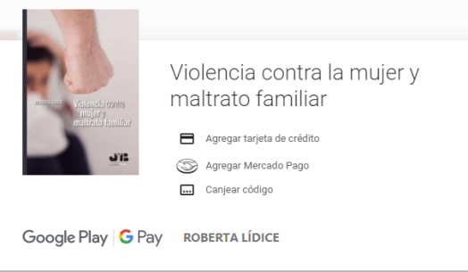 """*Google Play - E-book: """"Violencia Contra La Mujer Y Maltrato Familiar"""" Author: Roberta LÍDICE. Book details Libro:Violencia Contra La Mujer y Maltrato Familiar. Author: Roberta LÍDICE. PublisherJ.M. Bosch Editor Publication City/CountryBarcelona, Spain LanguageSpanish Edition Year: 2019. ISBN 13: 978-84-120770-1-8 Prologue: Dr. Mariem De la Rosa Bedriñana – Supreme Court Judge. Este libro aproxima al lector a un estudio del grave problema social de la violencia contra la mujer y el maltrato familiar, así como señala la necesidad de romper el silencio de la sociedad ante una situación de violencia contra la mujeres y los miembros del grupo familiar, bajo una óptica global. La violencia intrafamiliar es considerada una violencia de género, una vez que está basada en las desigualdades de poder que existen entre hombres y mujeres, contribuyendo a perpetuar la discriminación, opresión y los maltratros cometidos en el hogar. Es urgente una sanción efectiva de los Estados, a fin de que por medio de instrumentos nacionales e internacionales sea posible prevenir y erradicar este tipo de violencia, siendo evidente que esta causa no es contra el hombre, sino contra los agresores. Así pues, es imprescindible una toma de conciencia social de la gravedad de este flagelo social para que se pueda combatir. Roberta LÍDICE.Profesora, conferenciante e Investigadora. También abogada y consultora jurídica. Actuante en el ámbito preventivo y consultivo en las áreas de Derecho Penal, Derecho Administrativo, Gestión Pública y Empresarial con énfasis en la actuación en Defensoría del Pueblo/Ombudsman. Defensora del Pueblo certificado por la Ouvidoria-Geral da União (OGU) y la Escuela Nacional de Administración Pública (ENAP), para el ejercicio de la actividad de Defensoría del Pueblo y Participación Social. Es autora y coautora de varios libros y artículos jurídicos y sociales. Informations – Google Play:https://play.google.com/store/books/details?id=iAqyDwAAQBAJ&rdid=book HAVE A GOOD READI"""