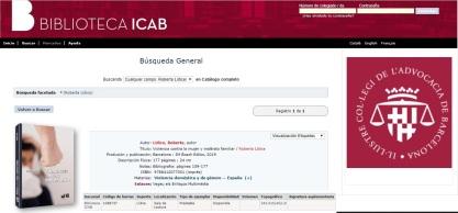 """*Libro añadido al catálogo bibliográfico de la prestigiosa Biblioteca del Ilustre Colegio de la Abogacía de Barcelona (ICAB) – España: """"Violencia Contra la Mujer y Maltrato Familiar"""" – Autora: Roberta Lídice. Estimados lectores: Les informamos que la prestigiosa Biblioteca del Ilustre Colegio de la Abogacía de Barcelona (ICAB) – España, recientemente ha añadido a su impotante catálogo bibliográfico el Libro: """"Violencia Contra la Mujer y Maltrato Familiar"""", de la autora Roberta Lídice. *BOOK DETAILS Disponible en la Librería Bosch – Barcelona, así como en las principales librerías de España, Francia, Italia, Alemania, Inglaterra, Australia, Corea, Brasil, Colombia, Argentina, entre otros países, con envíos a todo el Extranjero. Libro: Violencia Contra La Mujer y Maltrato Familiar. Author: Roberta LÍDICE Publisher: J.M. Bosch Editor Publication City/Country Barcelona, Spain Language Spanish Edition Year: 2019. ISBN-10: 8412077008 ISBN-13: 978-8412077001 Prologue: Dr. Mariem De la Rosa Bedriñana – Supreme Court Judge. Sinopsis: Este libro aproxima al lector a un estudio del grave problema social de la violencia contra la mujer y el maltrato familiar, así como señala la necesidad de romper el silencio de la sociedad ante una situación de violencia contra la mujeres y los miembros del grupo familiar, bajo una óptica global. La violencia intrafamiliar es considerada una violencia de género, una vez que está basada en las desigualdades de poder que existen entre hombre y mujeres, contribuyendo a perpetuar la discriminación, opresión y los maltratros cometidos en el hogar. Es urgente una sanción efectiva de los Estados, a fin de que por medio de instrumentos nacionales e internacionales sea posible prevenir y erradicar este tipo de violencia, siendo evidente que ésta causa no es contra el hombre, sino contra los agresores. Así pues, es imprescindible una toma de conciencia social de la gravedad de este flagelo social para que se pueda combatir. Así pues, se puede indicar es"""