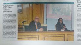 """La Tribuna de Albacete El periódico español La Tribuna de Albacete destaca el evento de presentación del libro """"Violencia Intrafamiliar Rom"""