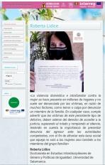 [La exposición Libre te queremos está enmarcada dentro del Proyecto 1234redes.con, apoyado por la Unión Europea dentro del Programa INTERREG V-A España-Portugal (POCTEP) 2014-2020, y cofinanciado por el Fondo Europeo de Desarrollo Regional (FEDER)]. #LIBRE TE QUEREMOS Día 25 de noviembre: Día Internacional Contra la Violencia de Género. Acción social promovida por el Servicio de Actividades Culturales y la Unidad de Igualdad de la Universidad de Salamanca (USAL). Un mensaje a todas las mujeres que están sufriendo algún tipo de violencia basada en género. Queremos que sepan que de todo se sale, y que hay un mundo ahí fuera para ustedes. *Mensaje de Roberta Lídice: «La violencia doméstica e intrafamiliar contra la mujer se hace presente en millones de hogares y no suele ser denunciada por las víctimas, en razón de muchos factores, como temor o culpa por denunciar un miembro de la familia. En cualquier caso, cumple advertir que las víctimas de este persistente tipo de delictivo, deben valerse del derecho de acceder a la justicia, superando el miedo y rompiendo el silencio, teniendo en cuenta la importancia de presentar denuncia del agresor ante las autoridades competentes, con el fin de afrontar esta lacra social que aqueja no solo a las mujeres sino también a los miembros del grupo familiar». ROBERTA LÍDICE Doctoranda en Estudios Interdisciplinares de Género y Políticas de Igualdad Universidad de Salamanca (USAL) -España.  #LIBRE TE QUEREMOS @sac_usal @robertalidice