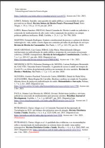 """BIBLIOGRAFIAS TEMÁTICAS - TRF1 *BIBLIOGRAFIA: DIREITO À SAÚDE (2021) Biblioteca Ministro Adhemar Maciel, do Tribunal Regional Federal da 1ª Região (TRF1). Texto selecionado e indicado à Bibliografia: """"Suicídio: uma questão de saúde pública e a necessidade de ações preventivas no Brasil"""". Autora: Roberta LÍDICE. *LÍDICE, Roberta. """"Suicídio: uma questão de saúde pública e a necessidade de ações preventivas no Brasil"""". In: Revista jurídica SÍNTESE Direito Penal e Processual Penal. Edição 116. Porto Alegre: Editorial IOB-SAGE, jun./jul. 2019, p. 13-14. ISSN 2179-1627. *Bibliografias Temáticas – TRF1 – Direito à saúde (2021), disponível em: . BRASIL. Justiça Federal. Direito à Saúde. Organizado pelo TRF1, 1ª ed. Brasília: Tribunal Regional Federal da 1ª Região (TRF1), Biblioteca Ministro Adhemar Maciel, 2021, 21p."""