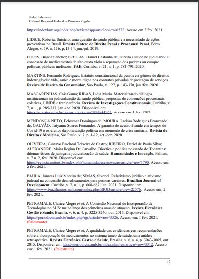 """BIBLIOGRAFIAS TEMÁTICAS - TRF1 *BIBLIOGRAFIA: DIREITO À SAÚDE (2021) Biblioteca Ministro Adhemar Maciel, do Tribunal Regional Federal da 1ª Região (TRF1). Texto selecionado e indicado à Bibliografia: """"Suicídio: uma questão de saúde pública e a necessidade de ações preventivas no Brasil"""". Autora: Rober"""