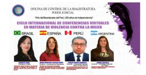 *Diario Jornada (Perú): OCMA iniciará Ciclo de Conferencias virtuales con reconocidos ponentes internacionales, con motivo de celebrarse el 44° aniversario de creación institucional. Escrito por Jornada - General. Viernes, 08/10/2021. CSJ Ayacucho. prensa@jornada.com.pe Diario Jornada (Perú): https://www.jornada.com.pe/judicial/item/4948-ocma-iniciara-ciclo-conferencias-virtuales-con-reconocidos-ponentes-internacionales